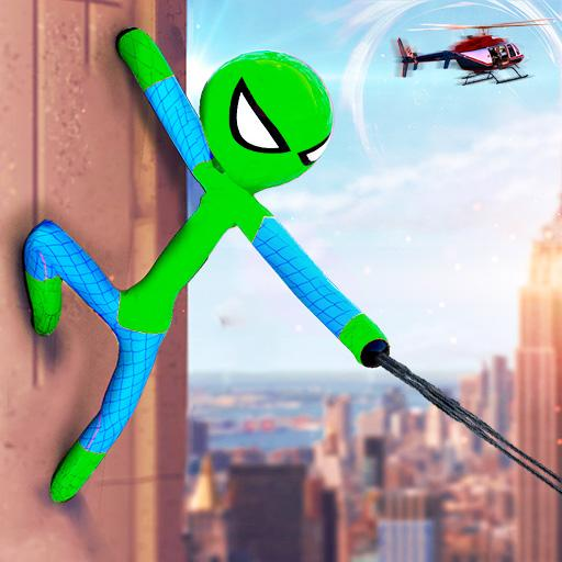 Flying Stickman Rope Hero Grand City Crime 2.1 APK (MOD, Unlimited Money)
