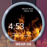Flames Watch Face – Wear OS Smartwatch – Animated 4.8.87  APK (Premium Cracked)