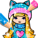 Girls Coloring Book for Kids Glitter 1.1.6.1 APK (MOD, Unlimited Money)