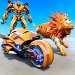Lion Robot Transform Bike War : Moto Robot Games 1.0.8 APK (MOD, Unlimited Money)