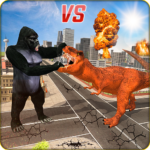 Monster Dino Vs King Kong-City Rampage Simulator 1.0.4 APK (MOD, Unlimited Money)