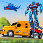 US Police Train Transporter Truck Robot Stunt Game 1.4 APK (Premium Cracked)