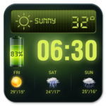 Weather Forecast Widget with Battery and Clock 16.6.0.6245_50117 APK (Premium Cracked)