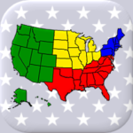 50 US States Map, Capitals & Flags – American Quiz 3.1.0 (MOD, Unlimited Money)