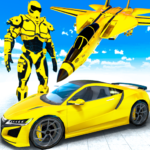 Airplane Jet Robot Transform Robot Shooting Games 1.9 APK (Premium Cracked)