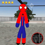 Amazing Spider-StickMan Rope Hero Gangstar Crime 1.5(MOD, Unlimited Money)