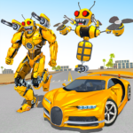 Bee Robot Car Transformation Game: Robot Car Games 1.30  (MOD, Unlimited Money)