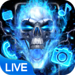 Blue Fire Skull Themes & Wallpapers 1.1.15  APK (Premium Cracked)