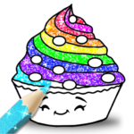 Cupcakes Coloring Book Glitter 2.3 (MOD, Unlimited Money)