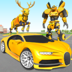 Deer Robot Car Game – Robot Transforming Games 1.0.5  (MOD, Unlimited Money)