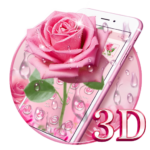 Elegant 3D Pink Rose Theme 1.1.13 APK (Premium Cracked)
