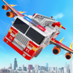 Flying Firefighter Truck Transform Robot Games 29 (MOD, Unlimited Money)