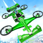 Flying Formula Car Games 2020: Drone Shooting Game 1.7 (MOD, Unlimited Money)