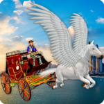 Flying Horse Taxi City Transport: Horse Games 2020  2.6APK (MOD, Unlimited Money)