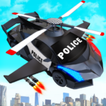 Flying Police Helicopter Car Transform Robot Games 29 .(MOD, Unlimited Money)