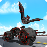 Flying Superhero Robot Transform Bike City Battle 46 (MOD, Unlimited Money)