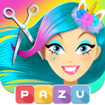Girls Hair Salon Unicorn – Hairstyle kids games 1.42   (MOD, Unlimited Money)