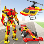 Helicopter Robot Transform: Formula Car Robot Game 1.1.0APK (Premium Cracked)