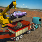 Monster Car Crusher Crane 2019: City Garbage Truck 1.6(MOD, Unlimited Money)