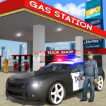 Police Car Wash Service: Gas Station Parking Games 1.2 (MOD, Unlimited Money)