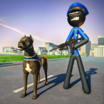 Stickman Police Dog Chase Crime Simulator 1.3 (MOD, Unlimited Money)