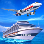 US Police Cruise Ship Car Truck Plane Transporter 2.5 (MOD, Unlimited Money)