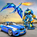 US Police Transform Robot Car Fire Dragon Fight 2.7 APK (MOD, Unlimited Money)