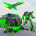 Army Bus Robot Transform Wars – Air jet robot game 3.8 (MOD, Unlimited Money)