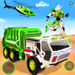 Flying Garbage Truck Robot Transform: Robot Games 19 (MOD, Unlimited Money)