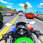 Police Moto Bike Highway Rider Traffic Racing Game 70 (MOD, Unlimited Money)