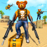 Teddy Bear Gun Strike Game: Counter Shooting Games 2.8  (MOD, Unlimited Money)