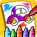 Cars Coloring Book for Kids – Doodle, Paint & Draw 2.4 (MOD, Unlimited Money)