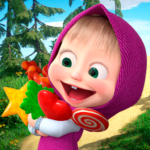 Masha and the Bear: Running Games for Kids 3D 1.1 (MOD, Unlimited Money)