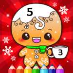 Happy Kids Christmas Coloring Book By Numbers 2.2 APK (MOD, Unlimited Money)
