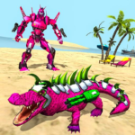 Real Robot Crocodile Simulator- Robot transform 1.0.17 APK (MOD, Unlimited Money)