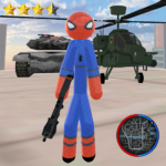 Stickman Spider Rope Hero Gangstar Crime 1.0 APK (MOD, Unlimited Money)