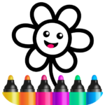 Toddler Drawing Academy🎓 Coloring Games for Kids  APK (MOD, Unlimited Money)