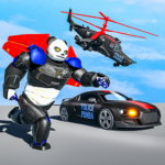 Flying Police Panda Robot Game: Robot Car Game 1.0.5 APK (MOD, Unlimited Money)