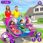 New Mother Baby Triplets Family Simulator 1.1.9 APK (MOD, Unlimited Money)