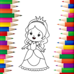 Princess Coloring Book 👸🎨 – Games for Girls 🌈 1.1.3 APK (MOD, Unlimited Money)