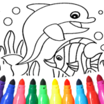 Dolphin and fish coloring book 15.9.6 MOD (Unlimited Money)