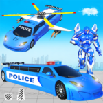 Flying Limo Police Helicopter Car Robot Games 17 MOD