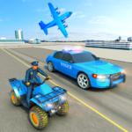USA Police Car Transporter Games: Airplane Games 1.4 MOD (Unlimited Money)