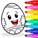 Easter Egg Coloring – Surprise Eggs Game For Kids  MOD (Unlimited Money) 14.0