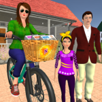 Working Mom Newspaper Girl Family Games 1.23  MOD (Unlimited Money)