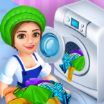 Laundry Service Dirty Clothes Washing Game  MOD (Unlimited Money) 1.23