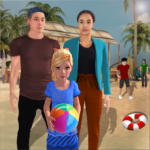 Virtual Family Summer Vacations Fun Adventures 1.08  MOD (Unlimited Money)